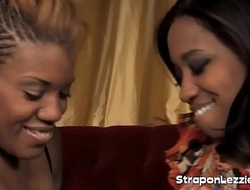 Ebony Ass Fucking Game With Strapon