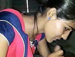 Dispirited Gujarati Bhabhi Sucking Beau Dig up With Clear Audio