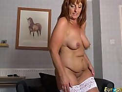 EuropeMature Hot Mature lady Solo Striptease