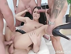 Lesson number #2 Alina Crystal gets 4on1 thither Balls Deep Anal, Balls Deep DP, Gapes together with Swallow GIO1136