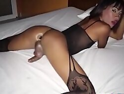 Horny ATM action with a hot Thai ladyboy
