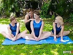 Gymnasdick Training- Lea Lee, Kenzie Madison xxx video  Katie Kush