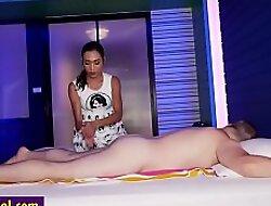 Naughty Asian boom box massage a boyfriends big flannel