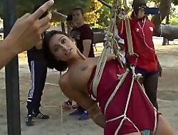 Slaves in bondage disgraced in public