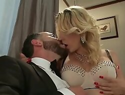 Shemale fucks aide-de-camp coupled with makes cum