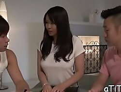 Meat go for a walk riding scene with a captivating nipponese Saki Sudou